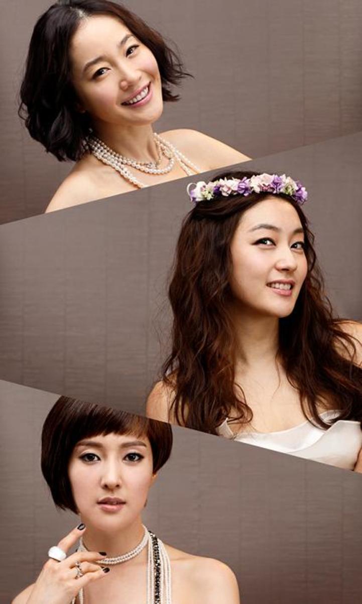 Uhm Ji-won, Park Jin-hee and Wang Bit-na