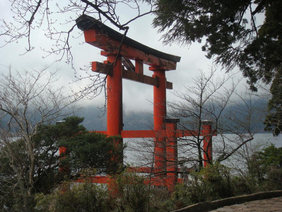 Floating torii, Hakone Shrine, Ashi Lake