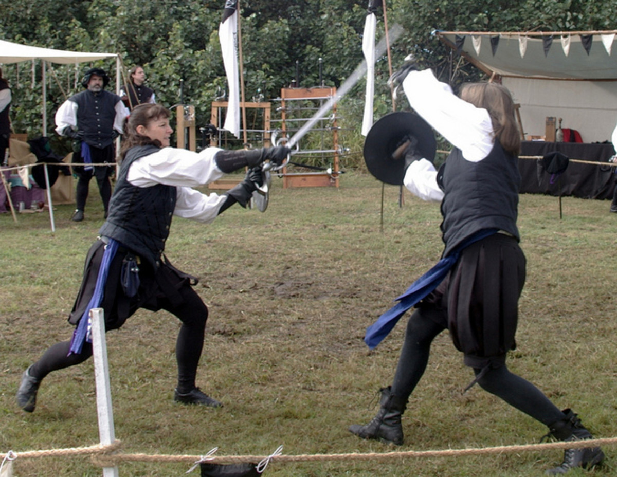 When we learn combat, only an opponent who does her best to defeat us really helps us, as we see in this photo from the Prima Spada School of Fence in Australia.