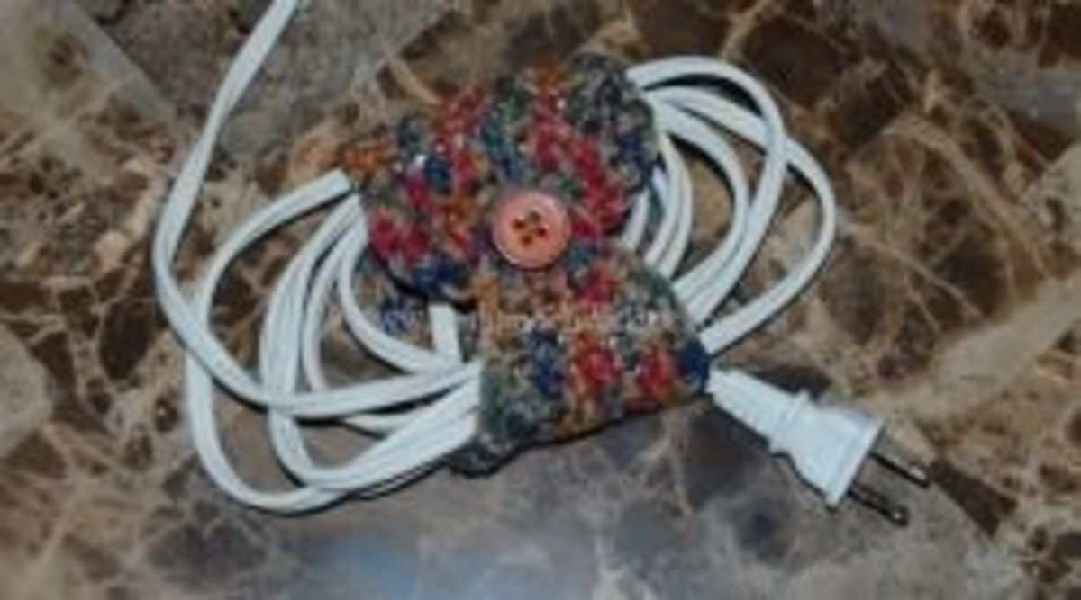 Crochet a cable tidy