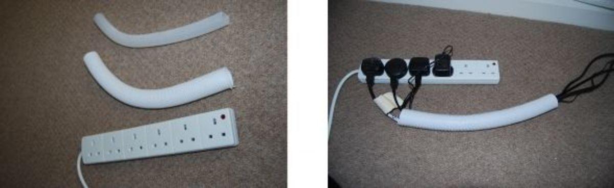 hide cables-cable management-organize cables