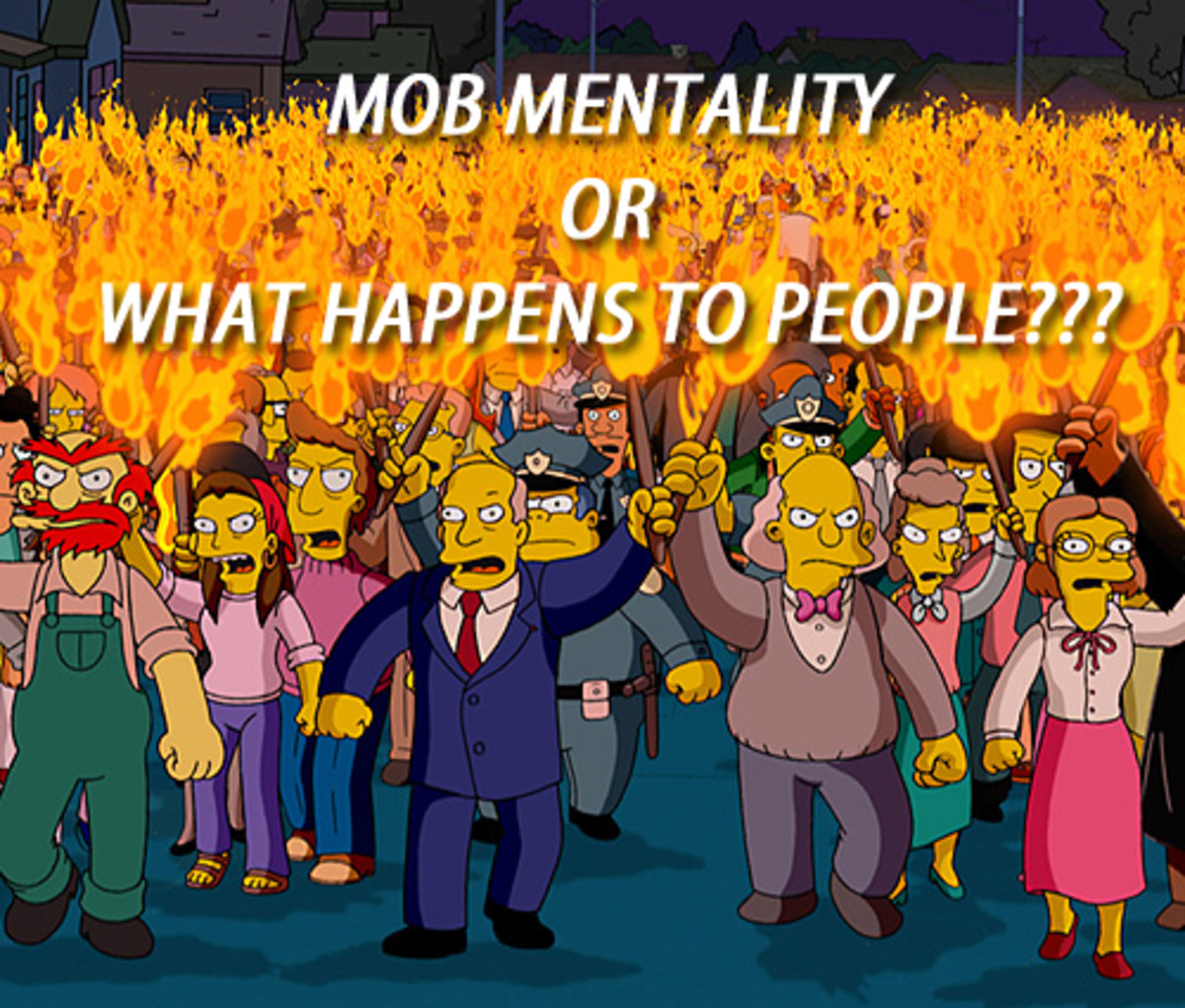Why do people go crazy in a mob?