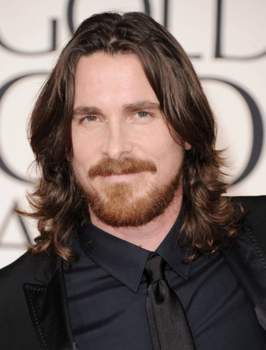 Christian Bale long hair.