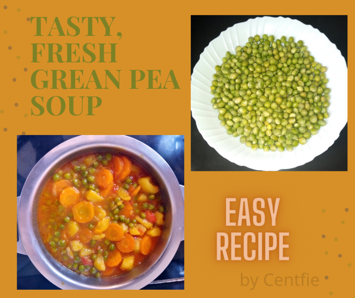Easy Fresh Green Peas Soup Recipe