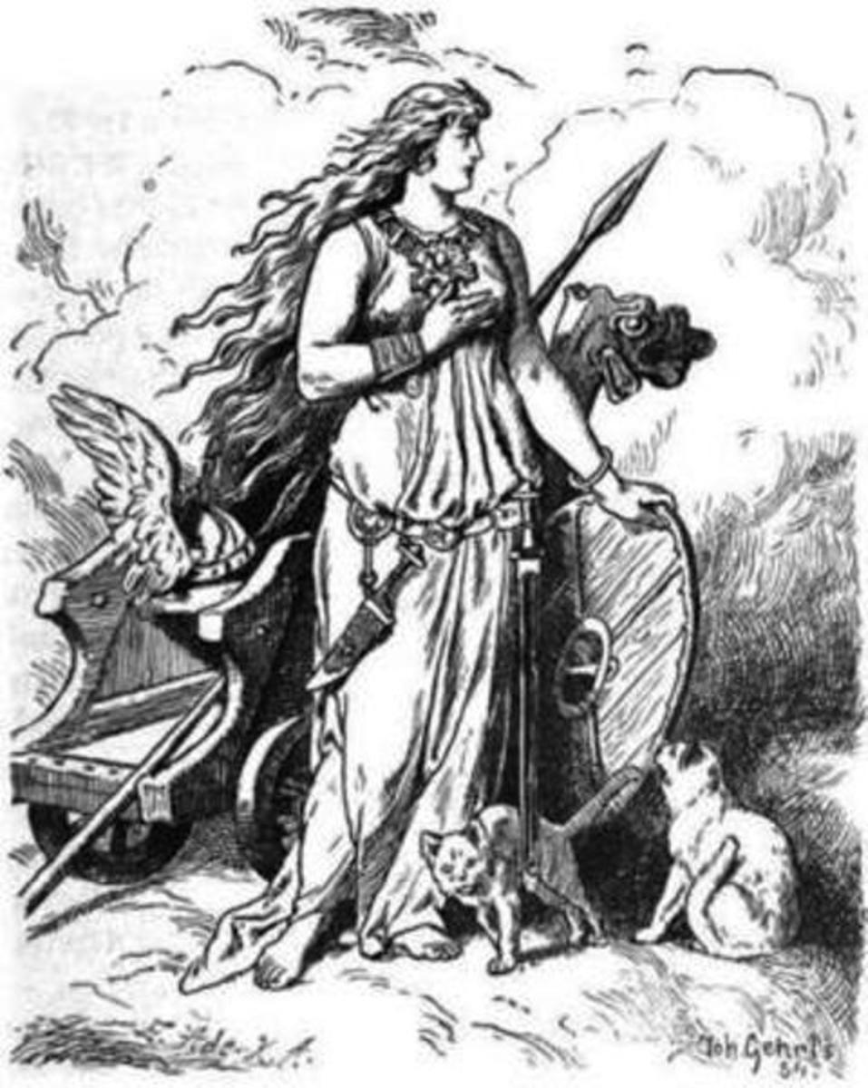 Freyja wears the Brisingamen neck-piece