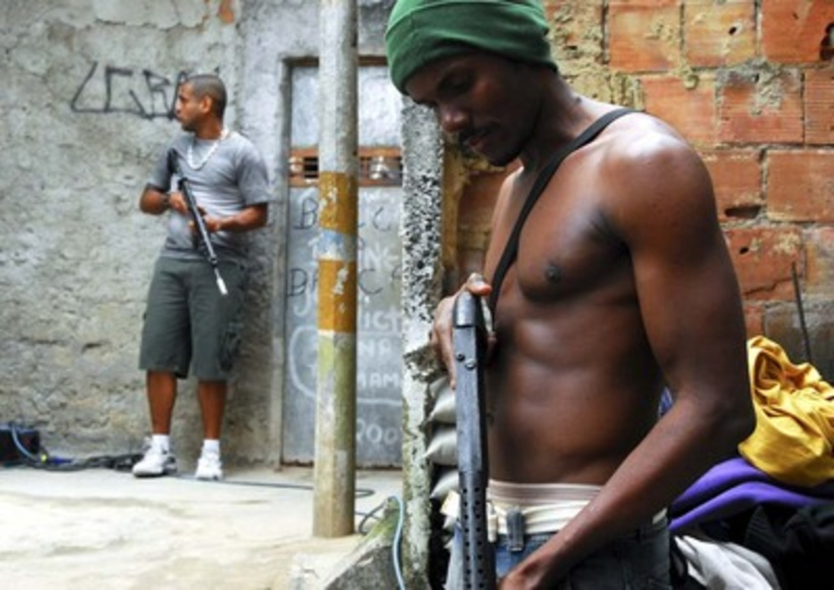 These are real gang members fighting a battle in the favelas