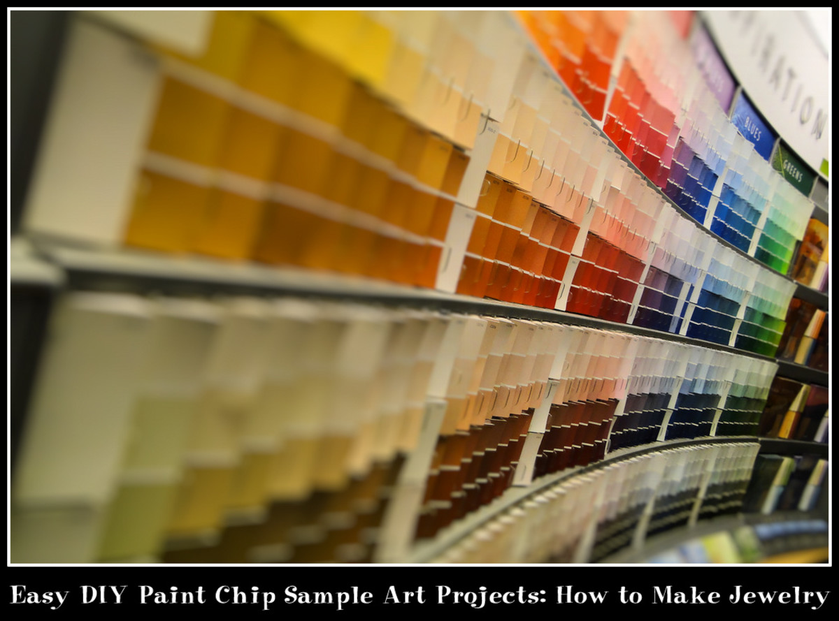 Easy DIY Paint Chip Sample Arts and Crafts Projects: How to Make Jewelry