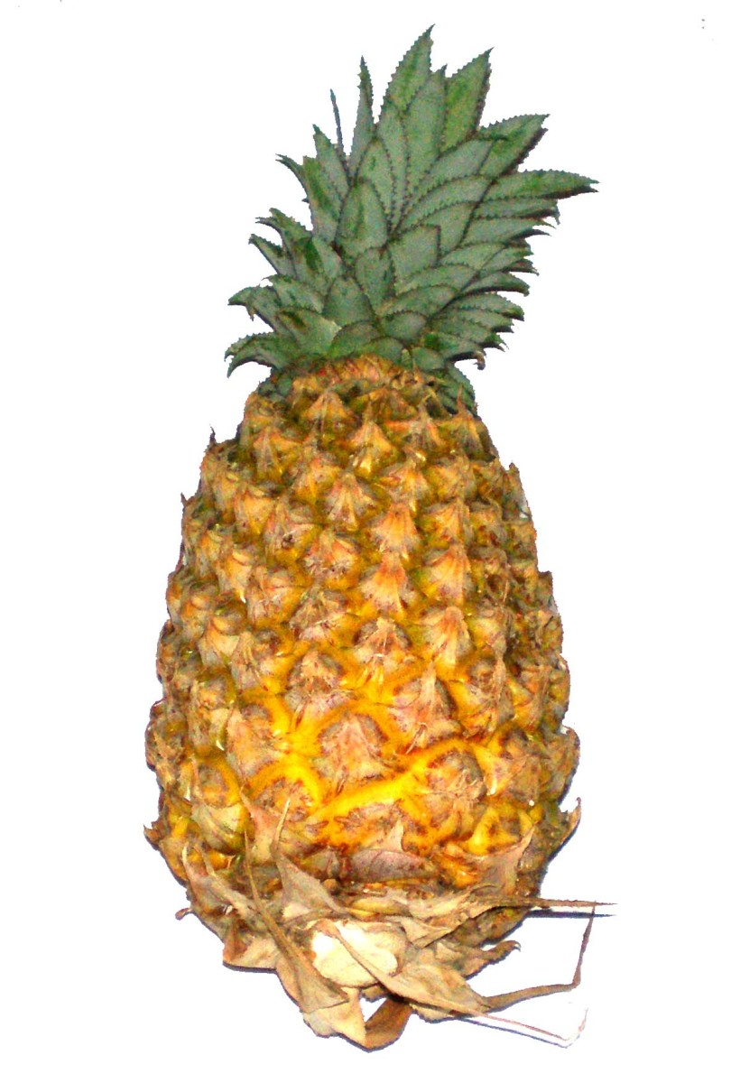 A pineapple has a thorny skin but is sweet inside