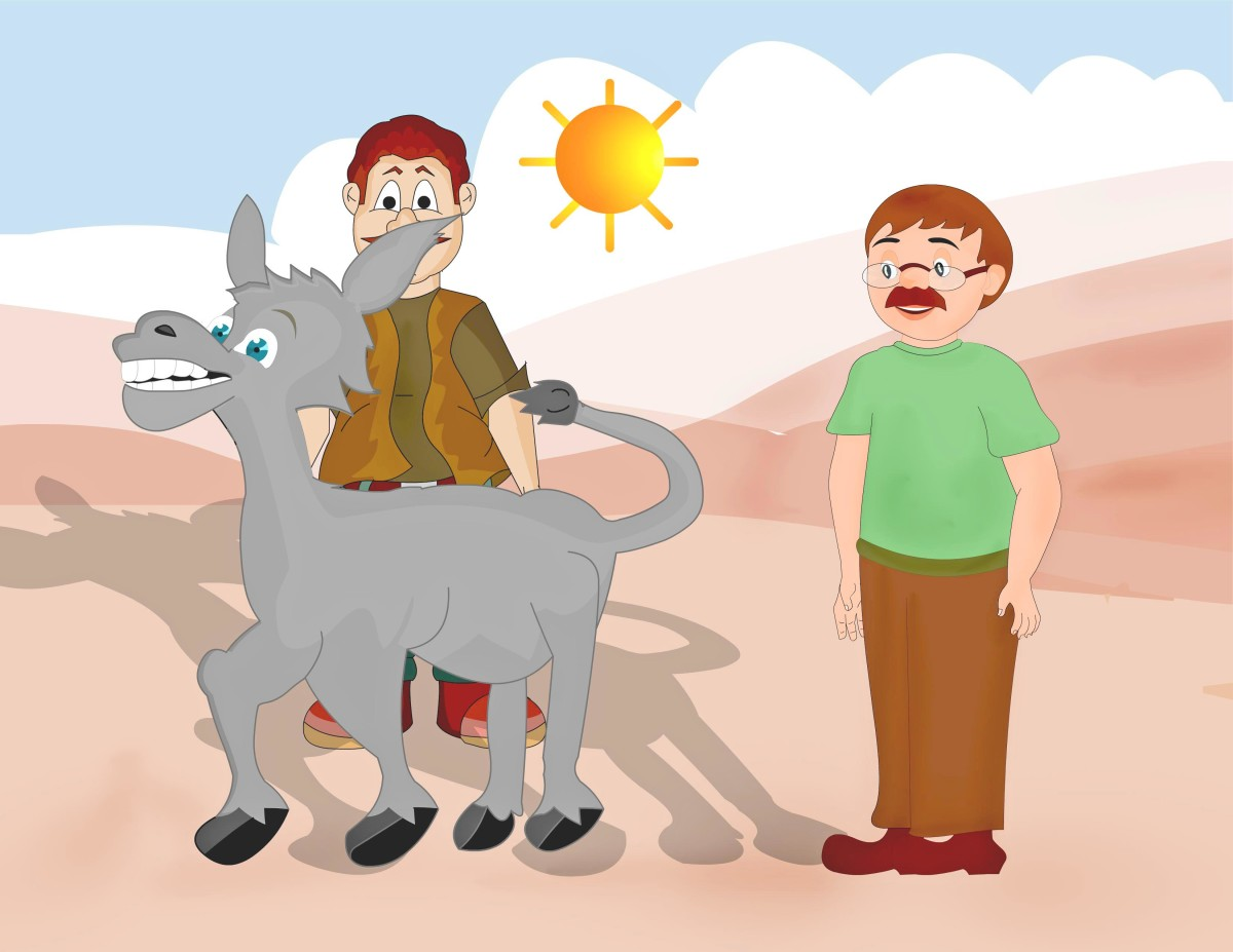 Aesops fables retold - The donkey and his shadow