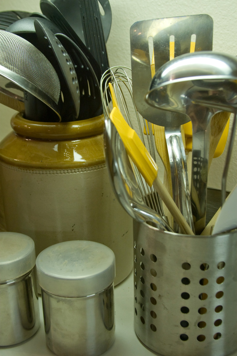 spatulas are one utensil that is very useful for binding ingredients.