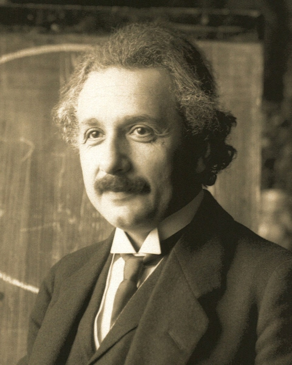 Albert Einstein (1879-1955) is a scientific hero to many people (including myself).  He was so dedicated to solving the problems of the universe that was still working on them while on his deathbed.