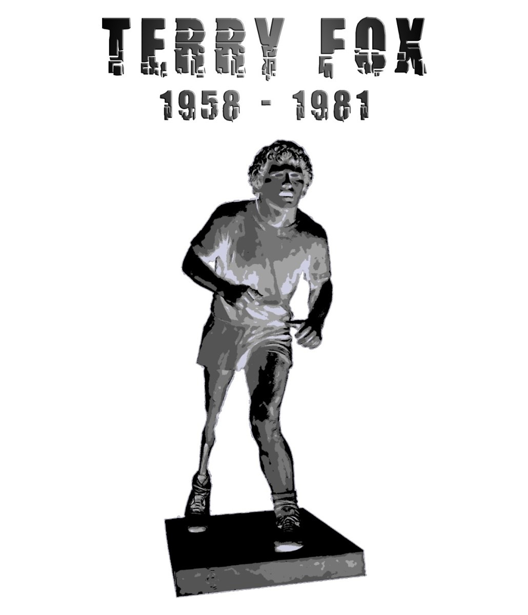 Terry Fox (1958-1981) was a was a Canadian athlete and cancer research activist who attempted to run across Canada with only one leg. He eventually lost his life to cancer but not after running for 143 days. Image used with permission.