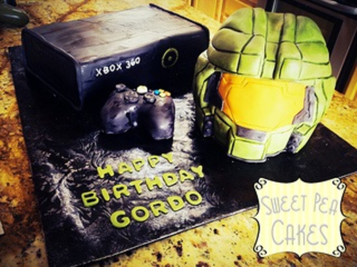 Halo and Xbox Cake by Sweet Pea 0613