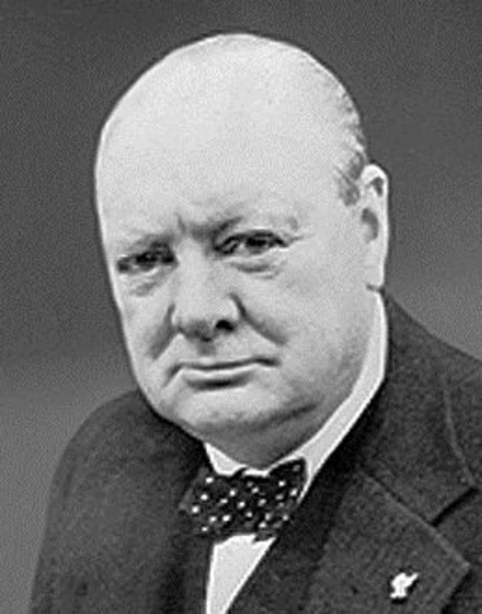 Churchill went bald in his later years.