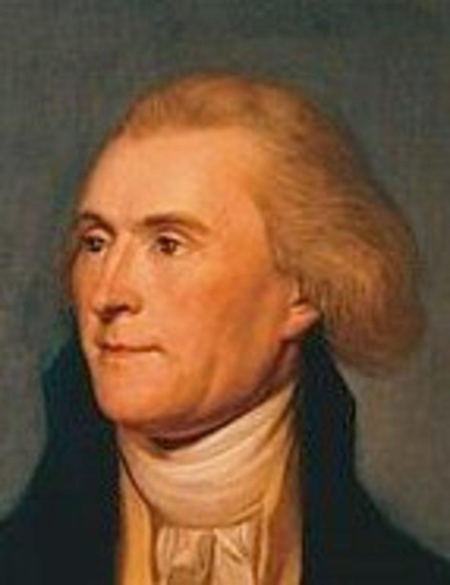 Thomas Jefferson's natural color.