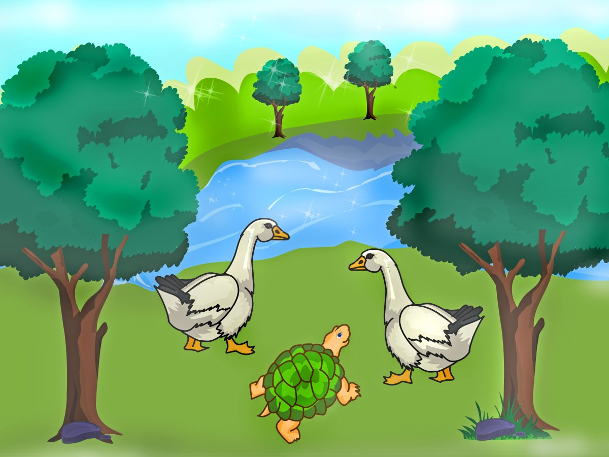 the-tortoise-and-the-geese-panchatantra-stories-retold