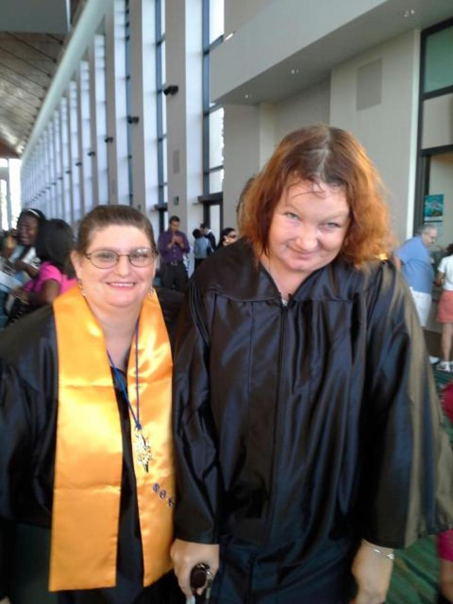 My friend and myself after graduating!