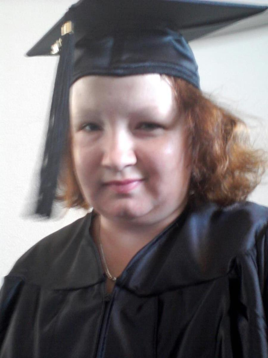 Me in cap and gown