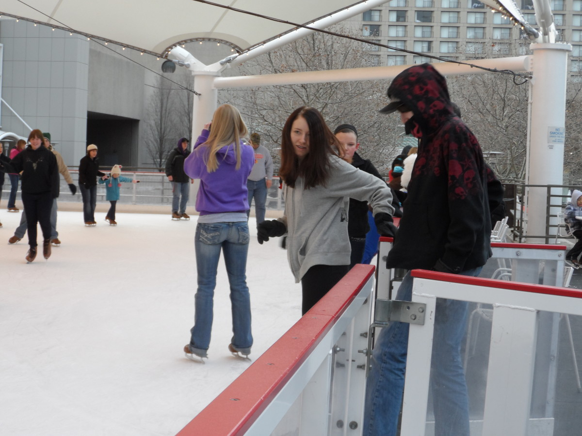 Her bestfriend and boyfriend hitting the ice