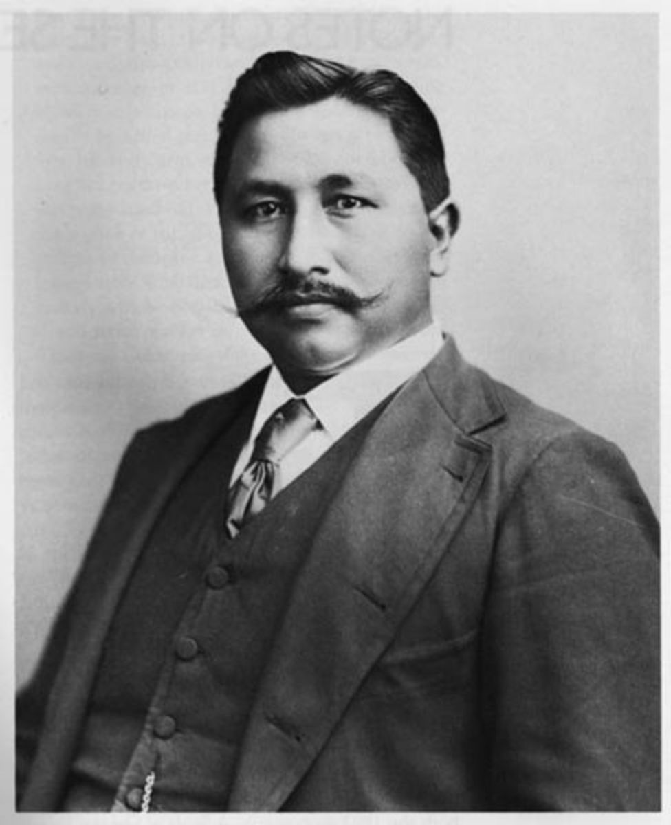 Francis La Flesche, 1857 - 1932, first Native American ethnologist / anthropologist.