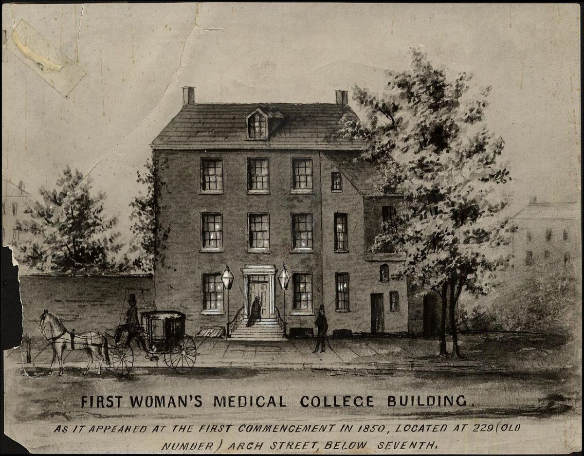 This was the first building of the Woman's Medical College in Pennsylvania.