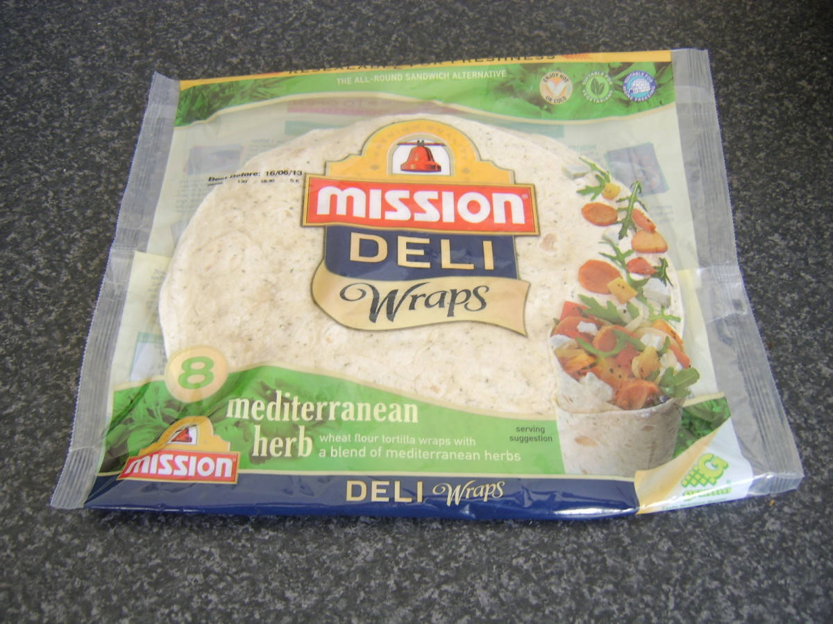 Herb tortilla wraps