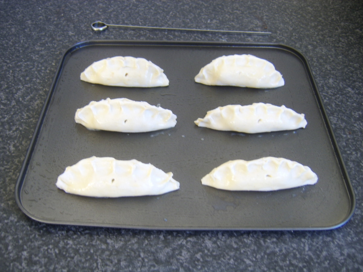 Mini pasties are ready for the oven