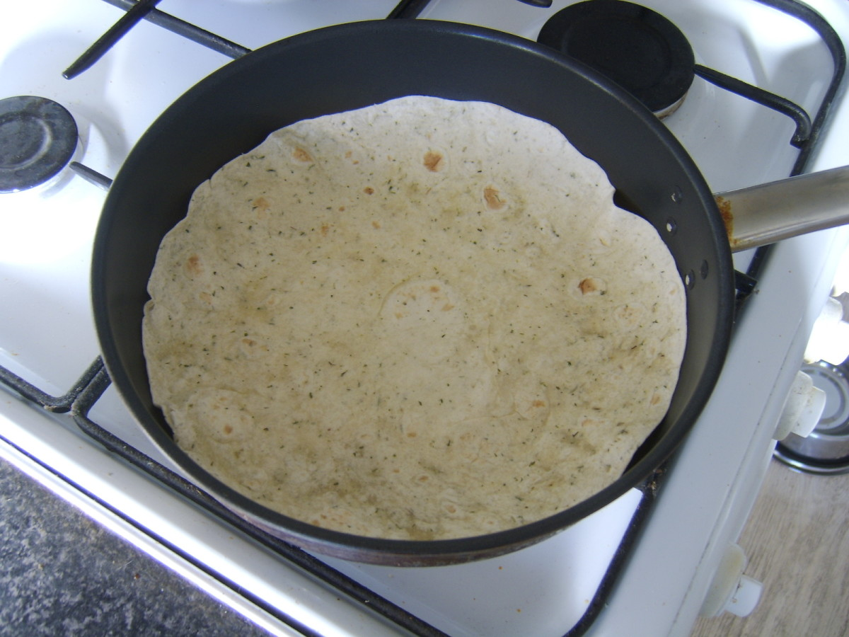 Heating tortilla wrap