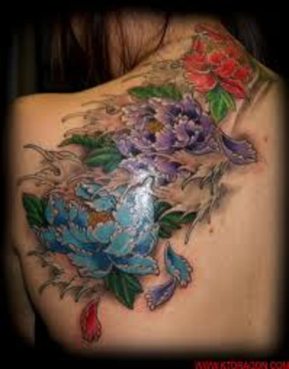 fe19e3abd Peony tattoo designs can be associated to Pacific themed tattoo designs.  The Peony is a