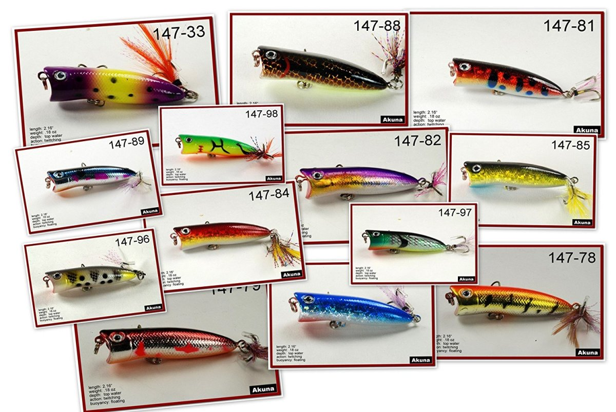 Your dad will never run out of fishing lures with the Akuna Bulk Pack with Fishing Lures, 112 Crank Baits, Spoons and Spinner Baits