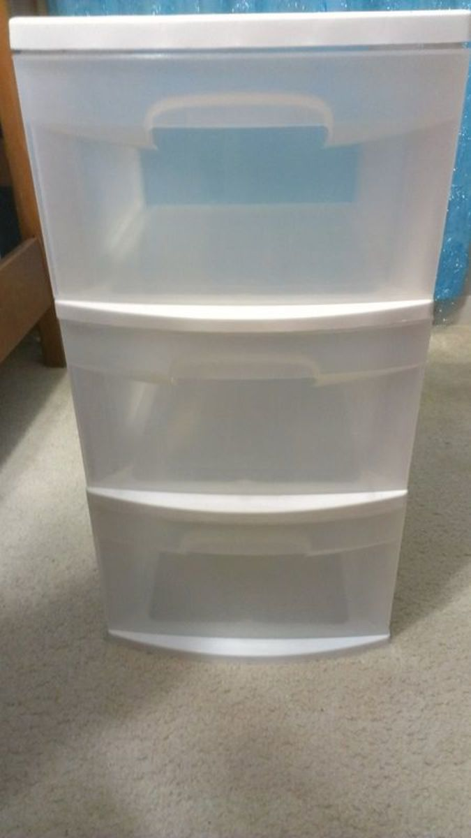 We bought our drawers at a local mass retail store.  They came with wheels, but we left those off.