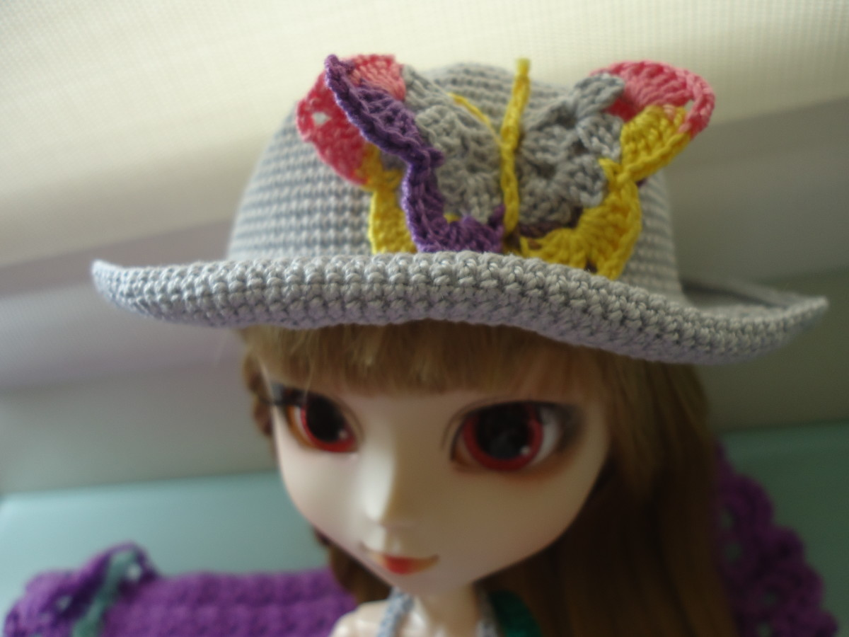 Hat with Butterfly Grace