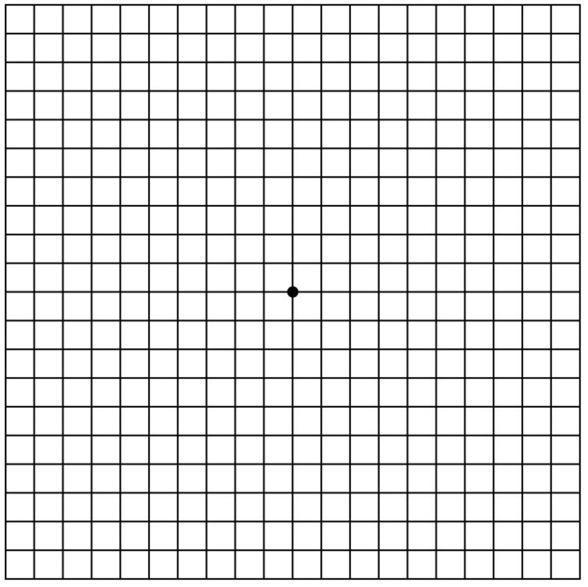 The standard Amsler Grid created by Marc Amsler and used since 1945.