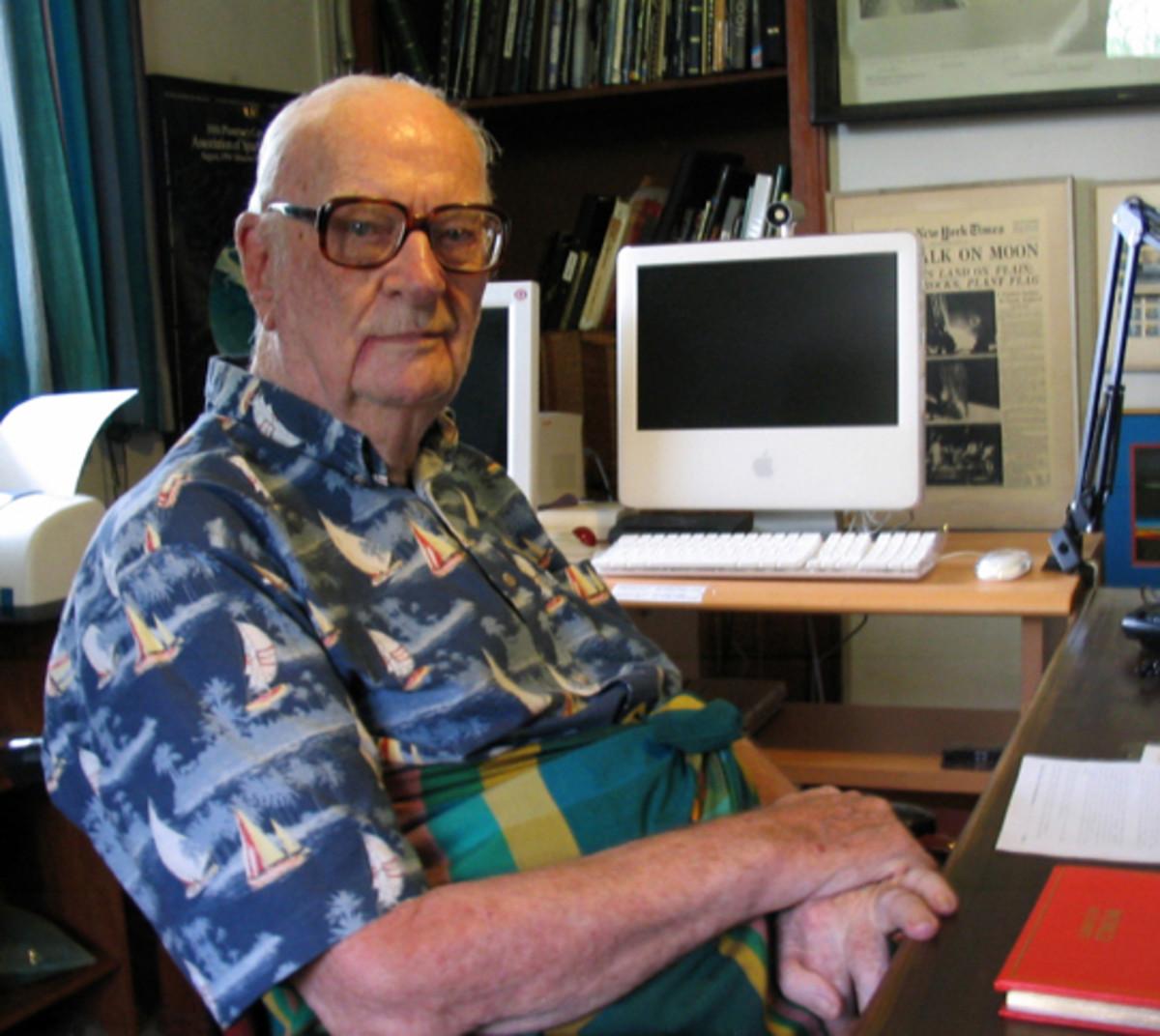 Arthur C. Clarke in 2005.