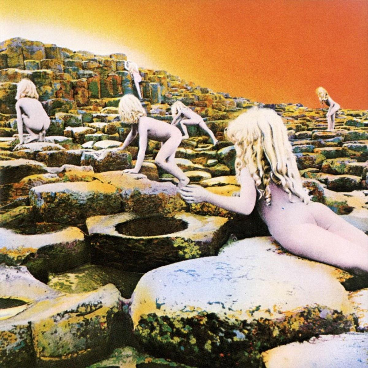 "The cover image of  Led Zeppelin's Album ""Hoses of the Holy"" which was inspired by the end of the book."