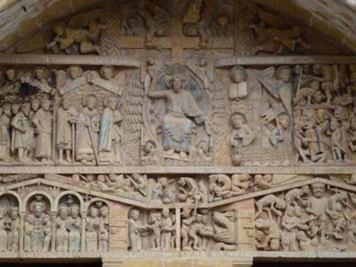 Tympanium of Conques (France - Via Podiensis)
