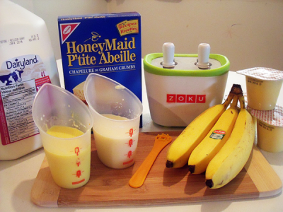 Banana Cream Pie Popsicle Ingredients