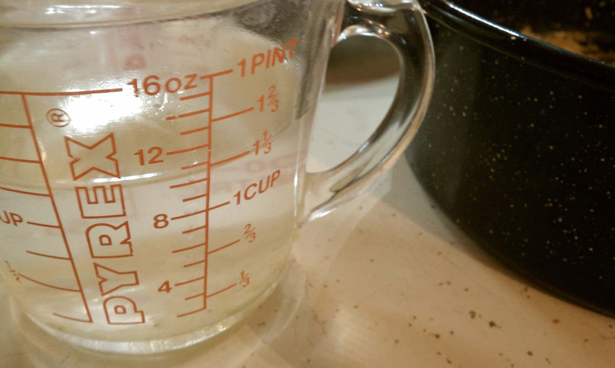 measuring water for solar cooking