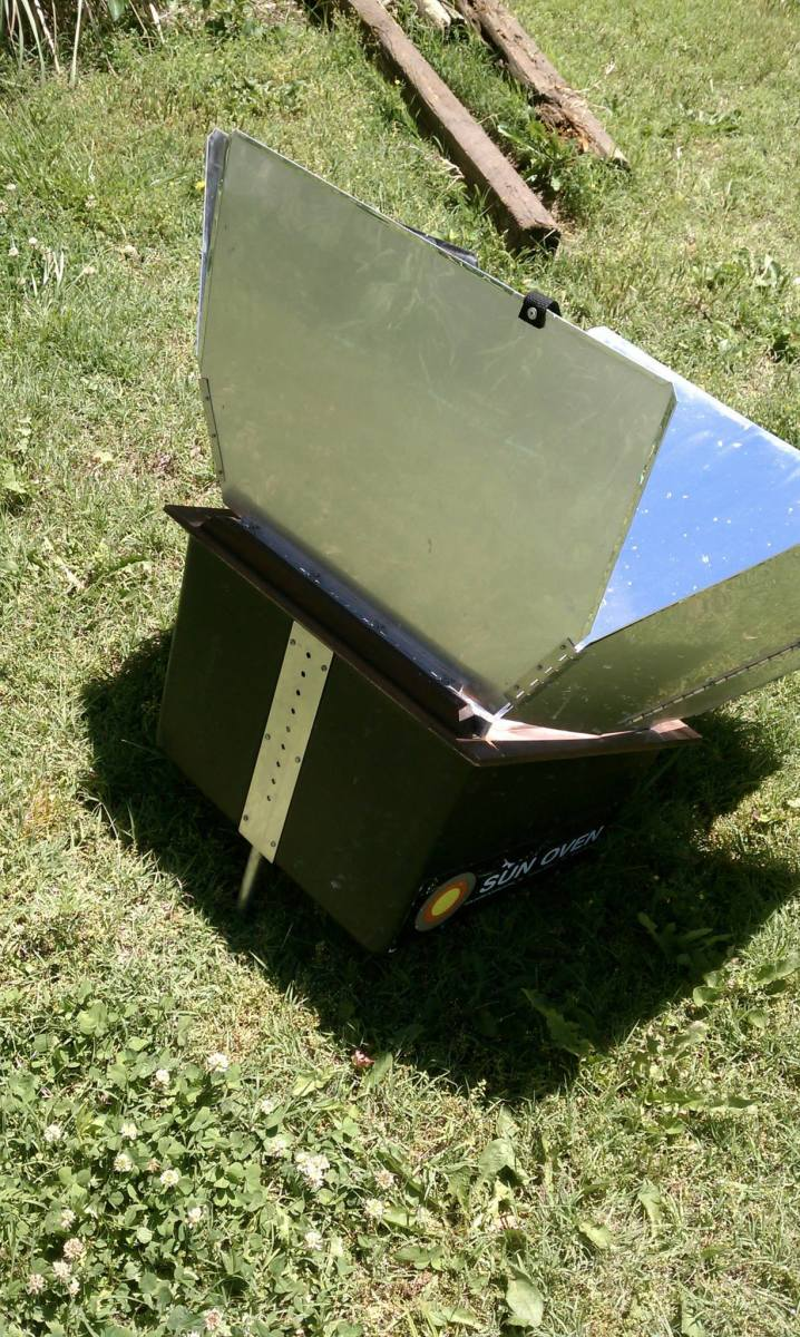 orienting a solar cooker