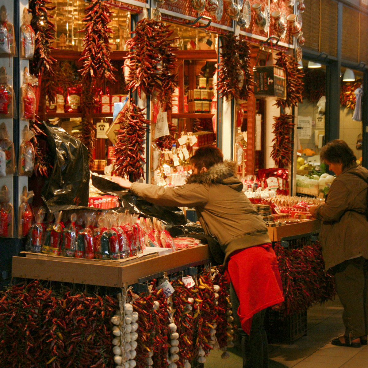 Paprika vendor in Budapest, Hungary