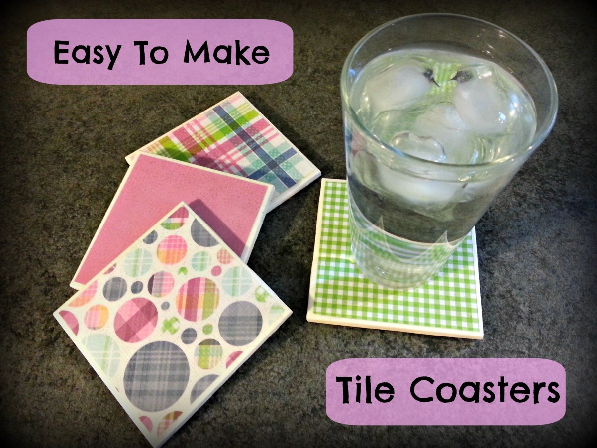 Custom made tile coasters can be made to suit any décor.