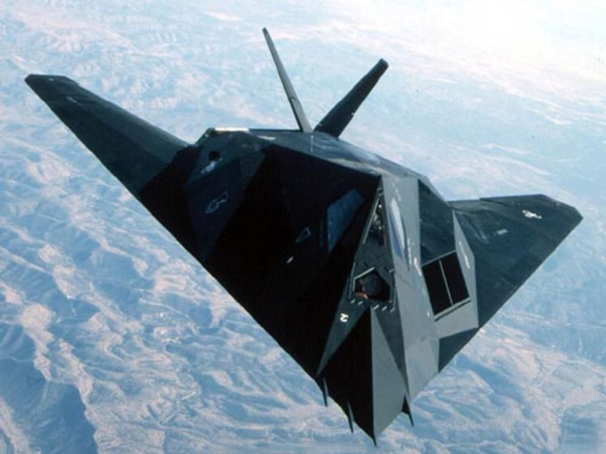 The Lockheed F-117 Nighthawk could easily be mistaken for a triangle UFO if you didn't already know to look for it.