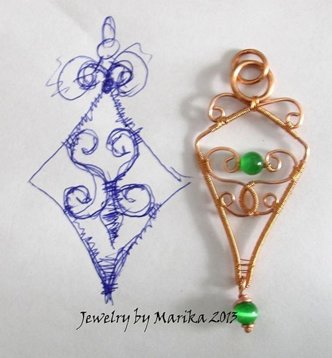 comparing jewelry to original design