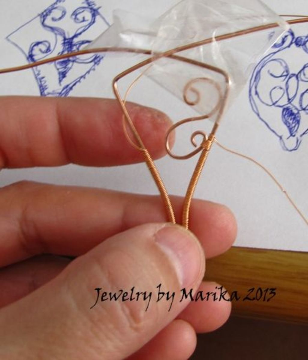 wire wrapping the pendant