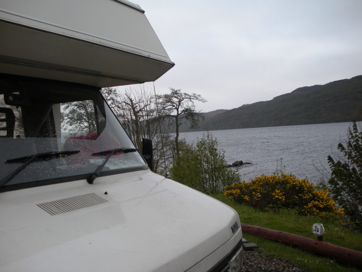 Park alongside the loch so you get a clear view if Nessie passes.
