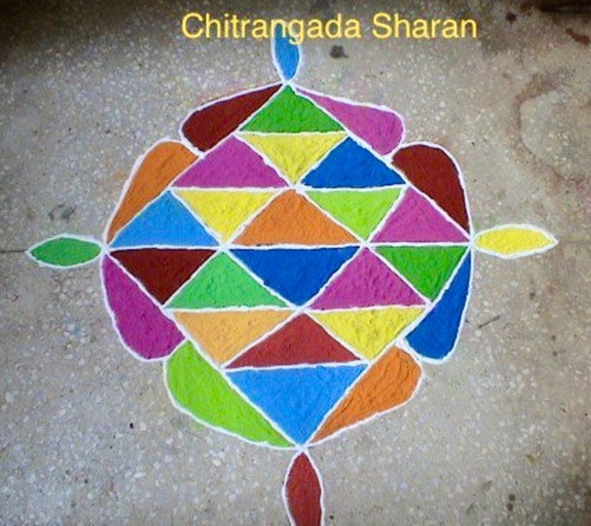 Rangoli made with coloured sand