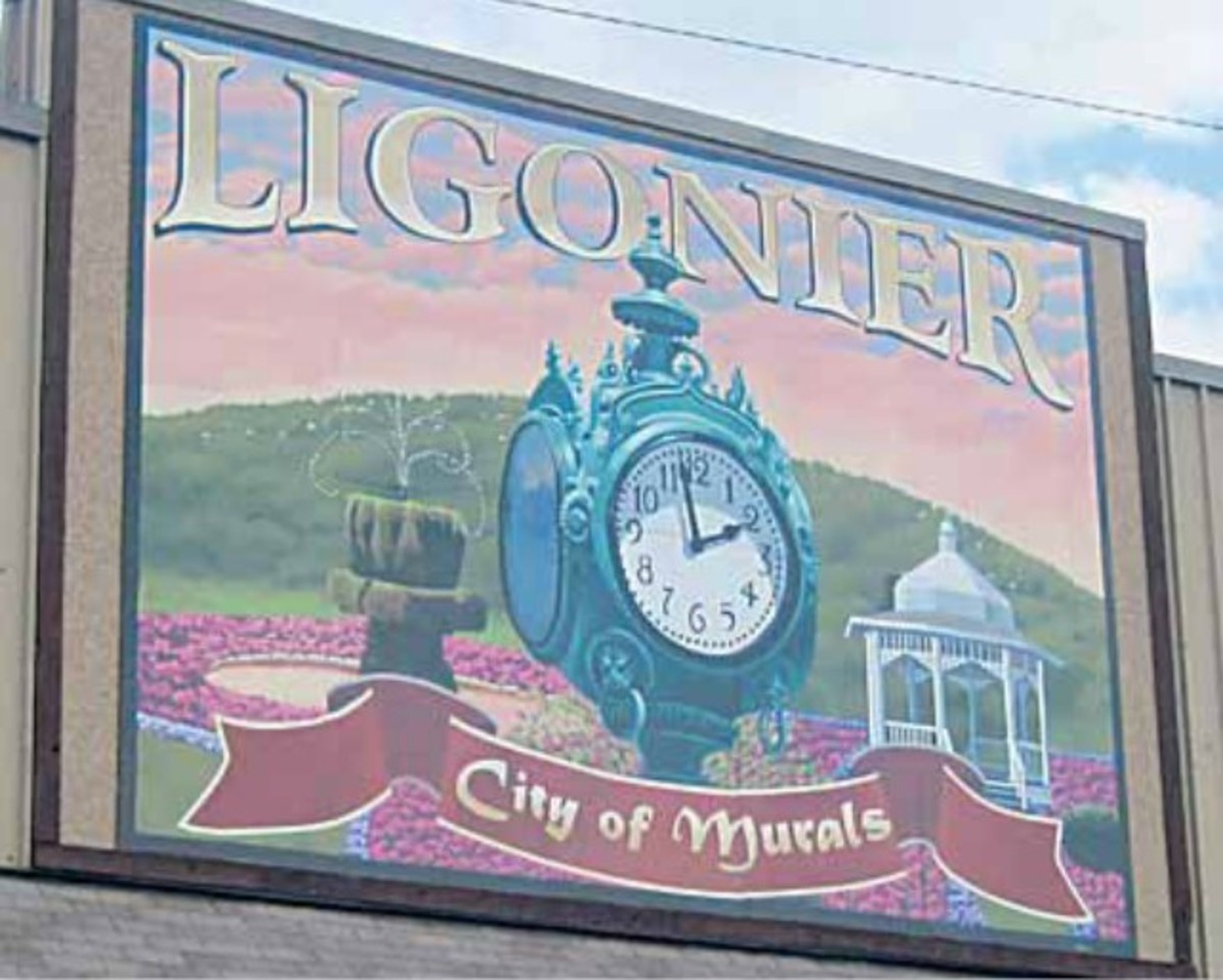 Ligonier's clock was donated to the city in 1924.