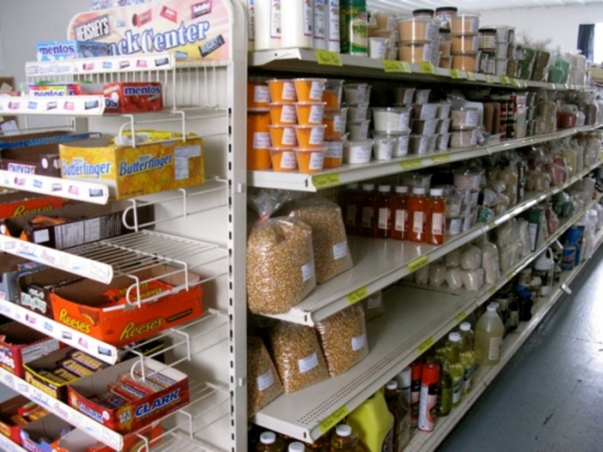 Shop at Amish salvage stores & stock up on supplies your household needs.