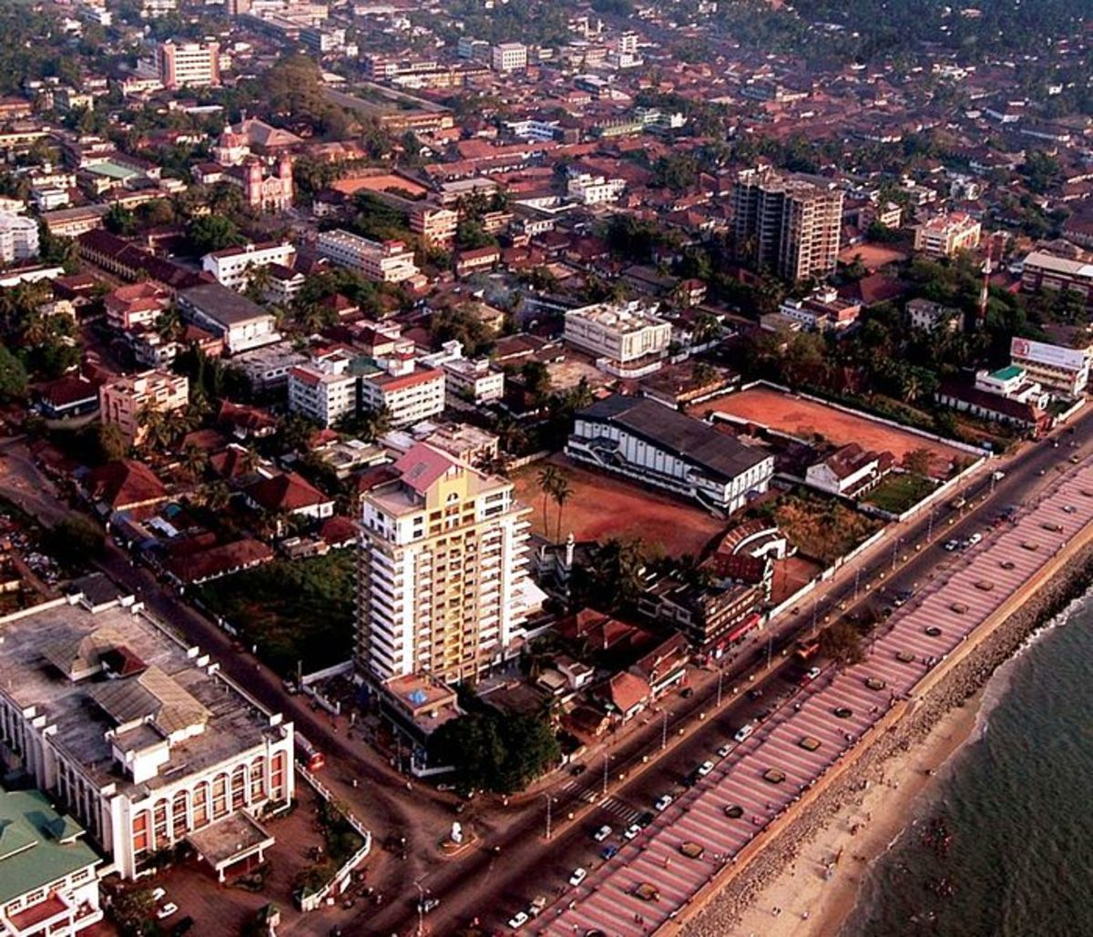 An eye view of Calicut Beach