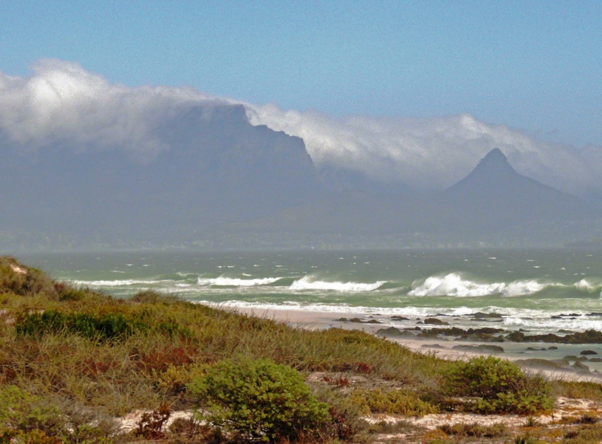 """Cape of Storms"" Table Mountain from Muizenberg"